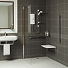 Mira Leap Wetroom Divider Panel profile small image view 1