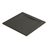 Mira Flight Level Slate Effect Square Shower Tray profile small image view 1