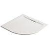 Mira Flight Level Safe 900 x 900mm Anti-Slip White Quadrant Shower Tray profile small image view 1