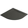 Mira Flight Level 900 x 900mm Slate Effect Quadrant Shower Tray profile small image view 1