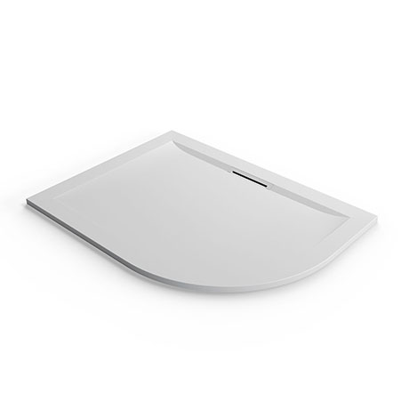 Mira Flight Level Safe 1200 x 900mm LH Anti-Slip White Offset Quadrant Shower Tray
