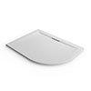 Mira Flight Level Safe 1200 x 900mm LH Anti-Slip White Offset Quadrant Shower Tray profile small image view 1