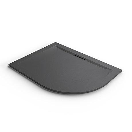 Mira Flight Level 1200 x 900mm LH Slate Effect Offset Quadrant Shower Tray