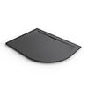 Mira Flight Level 1200 x 900mm LH Slate Effect Offset Quadrant Shower Tray profile small image view 1