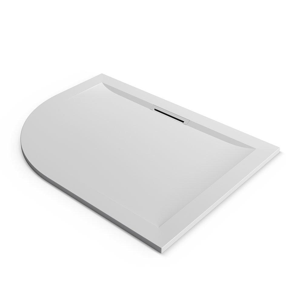 Mira Flight Level Safe 1200 x 900mm RH Anti-Slip White Offset Quadrant Shower Tray
