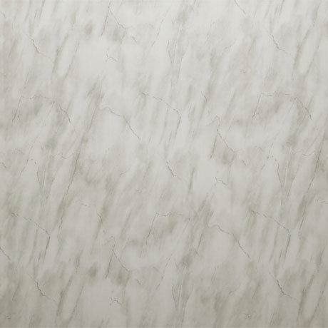 Mere Reef 1m Wide PVC Wall Panel - Light Carrera Marble Gloss