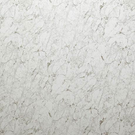 Mere Reef 1m Wide PVC Wall Panel - White Carrera Marble Gloss