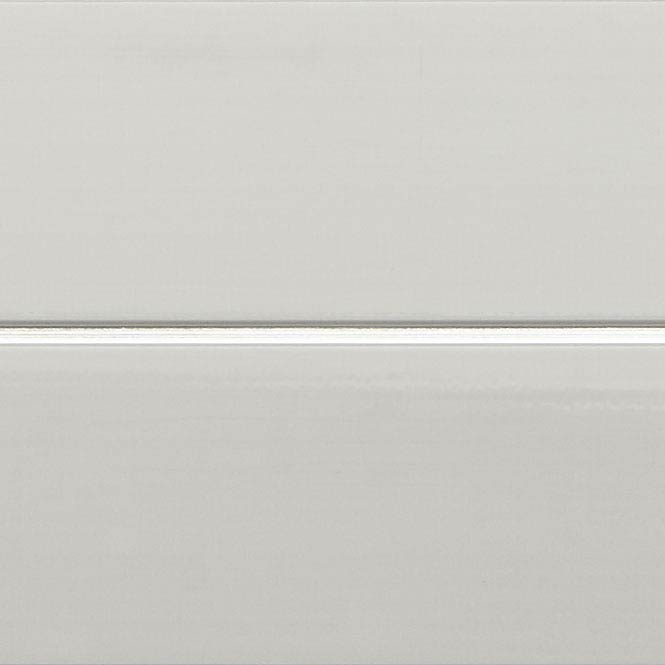 Mere Reef PVC Ceiling Panels (Pack of 5) - Silver Strip White Gloss Large Image