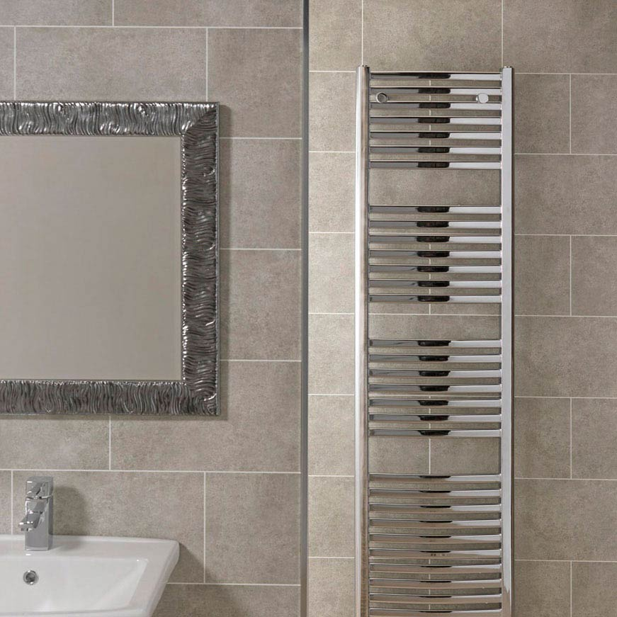 Mere Reef Interlock 3 Tile Effect Wall Panels (Pack of 8) - Light Grey Stone profile large image view 2
