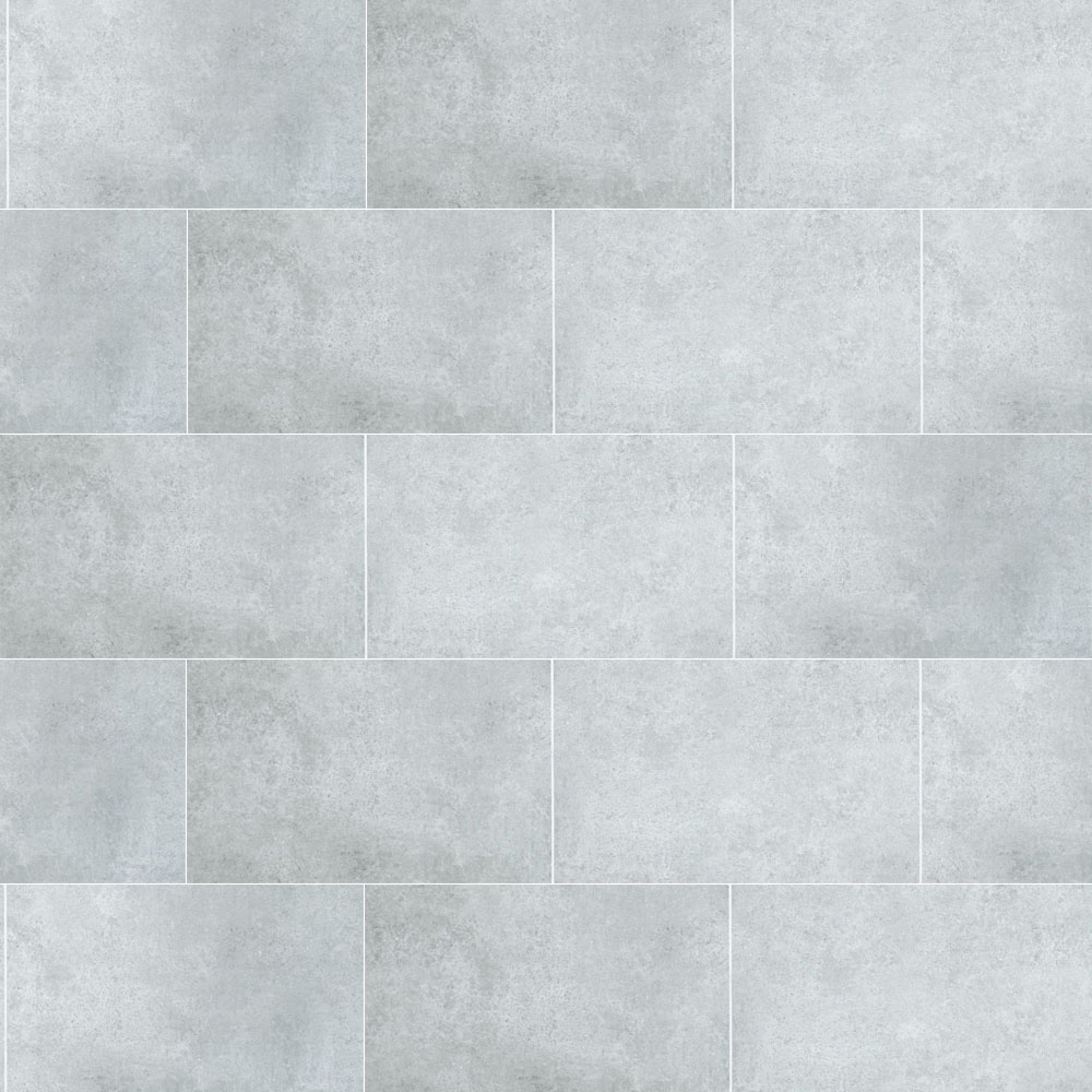 Mere Reef Interlock 3 Tile Effect Wall Panels Pack Of 8 Light Grey Stone