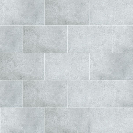 Mere Reef Light Grey Stone Interlock 3 Tile Effect Wall Panels (Pack of 8)