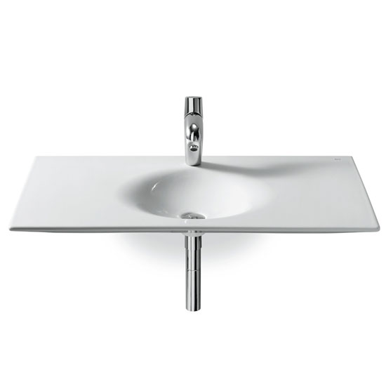 Roca - Kalahari-N Single Bowl Wall Mounted Basin - 1000mm - 1 Tap Hole profile large image view 1