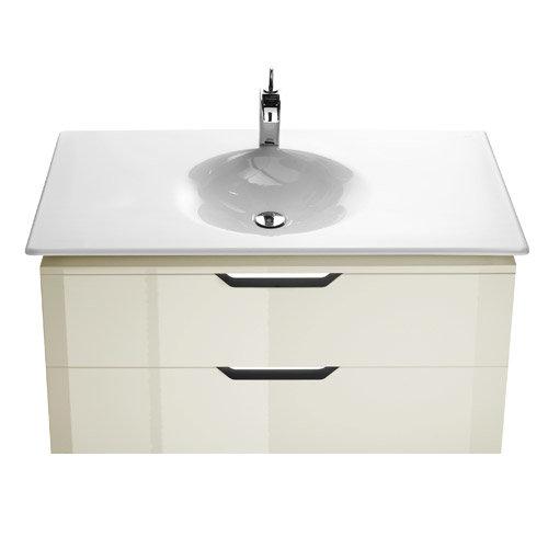 Roca - Kalahari-N 2 Drawer Vanity Unit with W1000mm Basin - 1 TH - 3 x Colour Options Large Image