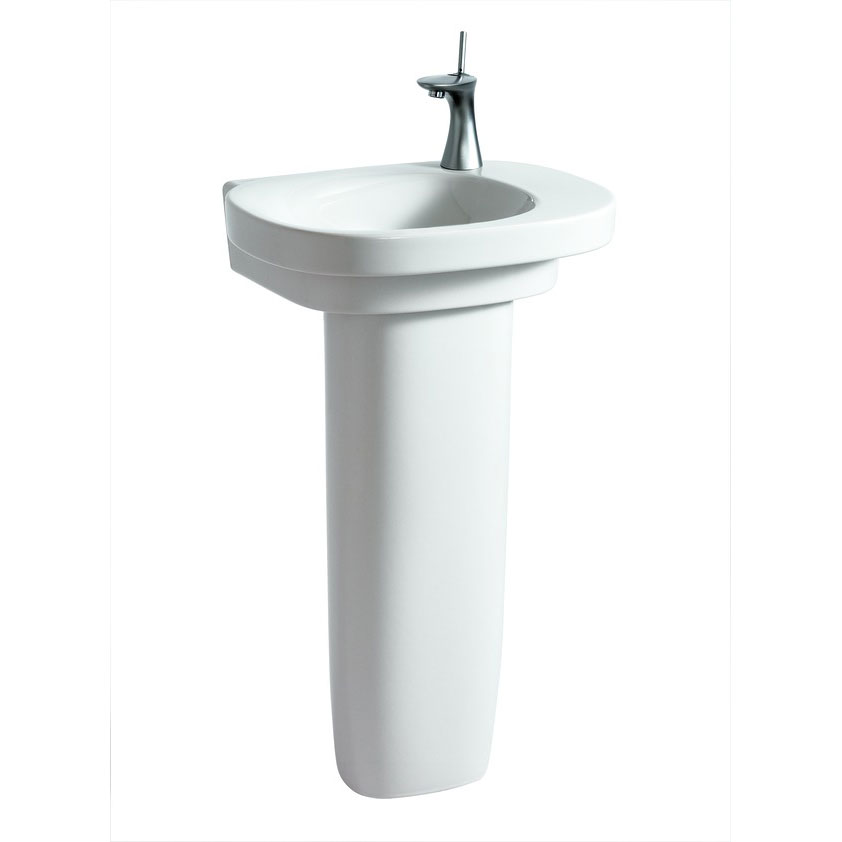 Laufen - Mimo 1 Tap Hole Asymmetric Basin with Concealed Overflow - 2 x Size Options profile large image view 2