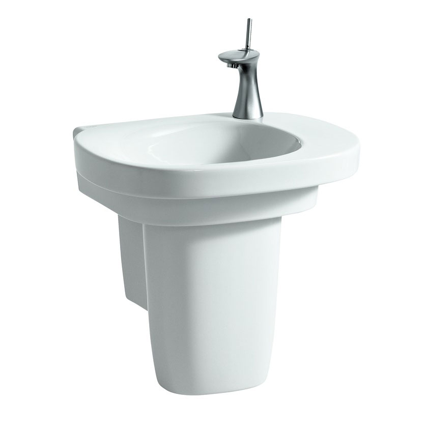 Laufen - Mimo 1 Tap Hole Asymmetric Basin with Concealed Overflow - 2 x Size Options profile large image view 3
