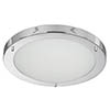 Searchlight IP44 Chrome Flush Fitting with Opal Glass Diffuser - 10633CC profile small image view 1