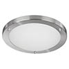 Searchlight IP44 Satin Silver Flush Fitting with Opal Glass Diffuser - 10633SS profile small image view 1