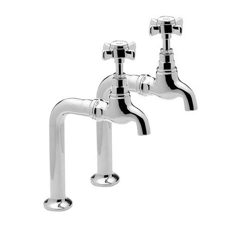 Tre Mercati - Imperial Pair Bib Taps and Stands - Chrome - 1067