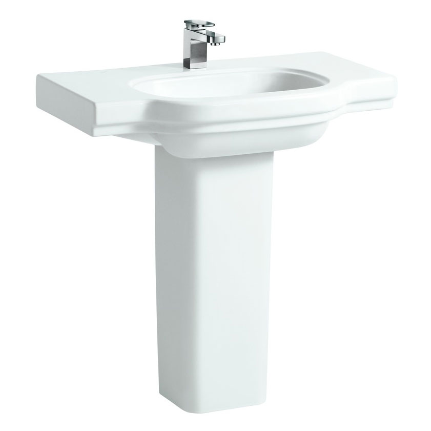 Laufen - Lb3 Classic 850mm Countertop Basin - 2 x Tap Hole Options profile large image view 3