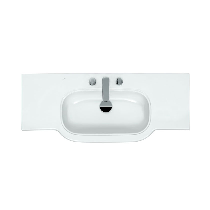 Laufen - Lb3 Classic 1250mm Countertop Basin - 2 x Tap Hole Options profile large image view 2