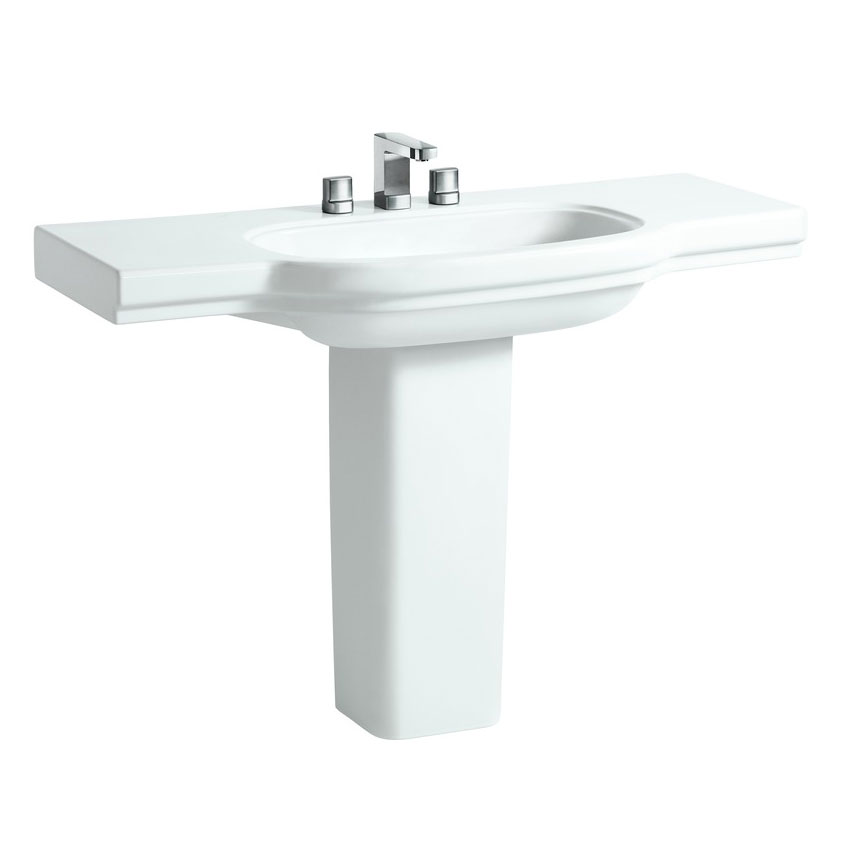 Laufen - Lb3 Classic 1250mm Countertop Basin - 2 x Tap Hole Options profile large image view 3