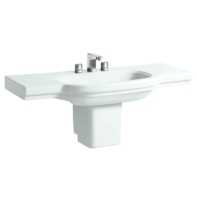 Laufen - Lb3 Classic 1250mm Countertop Basin - 2 x Tap Hole Options profile large image view 4