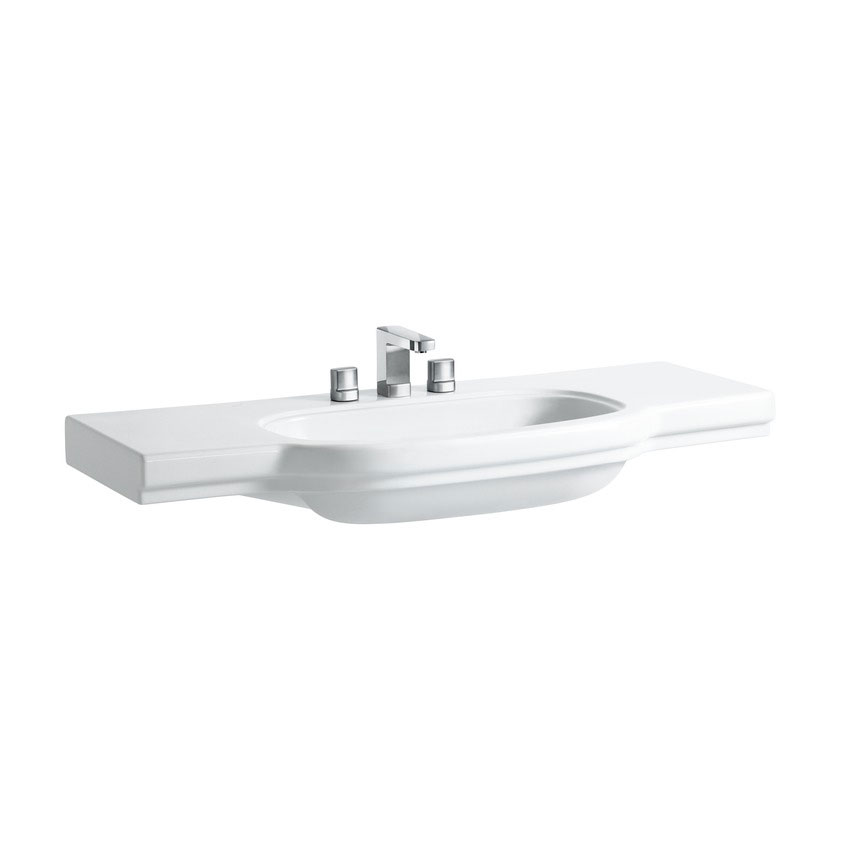 Laufen - Lb3 Classic 1250mm Countertop Basin - 2 x Tap Hole Options profile large image view 1