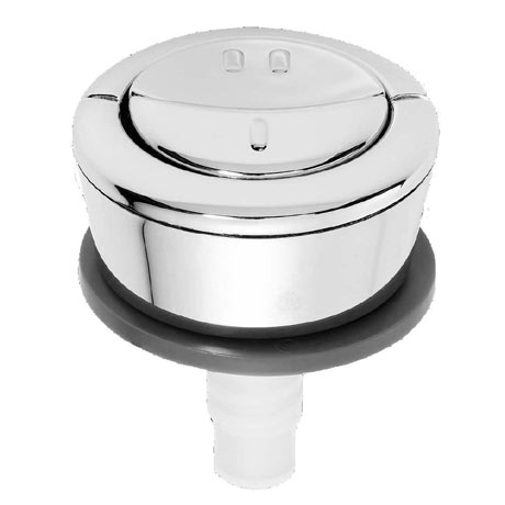 Wirquin Jollyflush Dual Flush Chrome Push Button