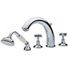 Tre Mercati - Imperial 4 Tap Hole Bath Shower Mixer Complete with Kit - Chrome Small Image