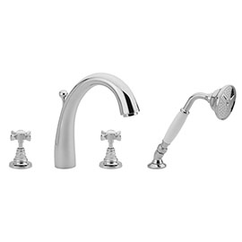 Tre Mercati - Imperial 4 Tap Hole Bath Shower Mixer Complete with Kit - Chrome