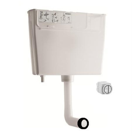 Geberit - Pneumatic Operated Concealed Dual Flush Cistern - Low Height profile large image view 1