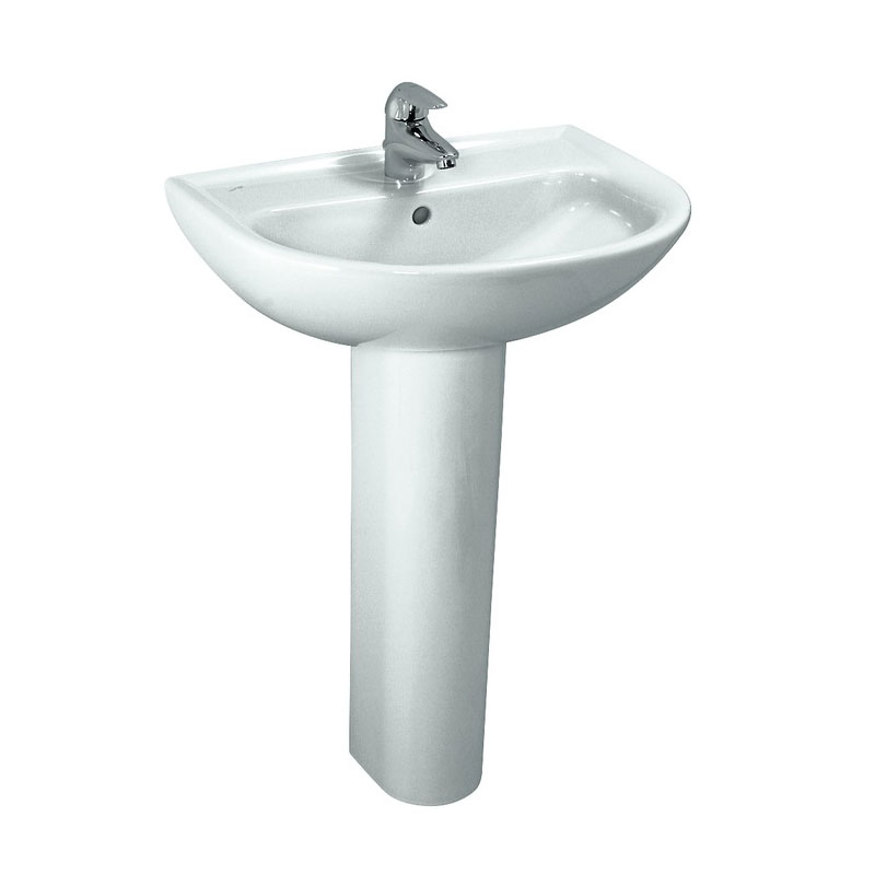 Laufen - Pro 1 Tap Hole Compact Basin - 2 x Size Options Standard Large Image