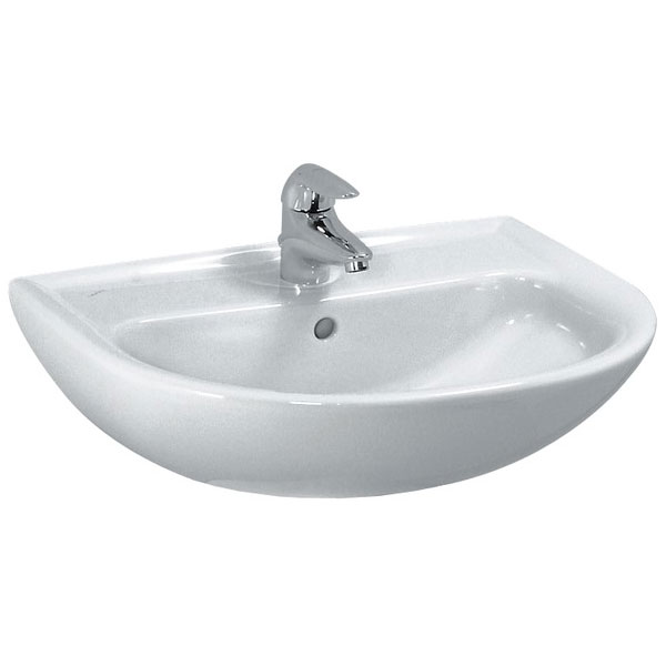 Laufen - Pro 1 Tap Hole Compact Basin - 2 x Size Options Large Image