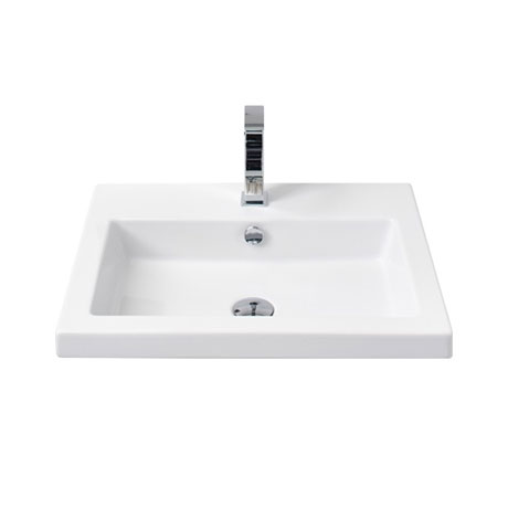 Miller - 605mm Rectangular Bowl Ceramic Basin - 110W1
