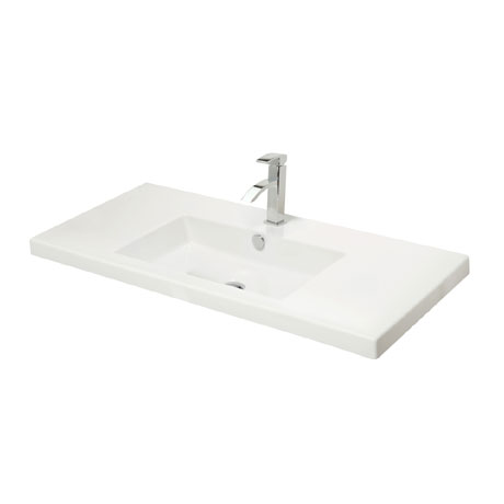Miller - 1005mm Rectangular Bowl Ceramic Basin - 113W1