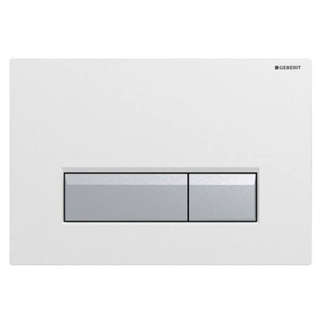 Geberit Sigma40 White DuoFresh Odour Extraction Flush Plate - 115.600.KQ.1