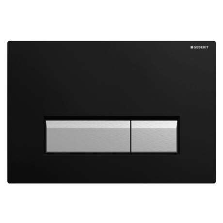 Geberit Sigma40 Black DuoFresh Odour Extraction Flush Plate - 115.600.KR.1