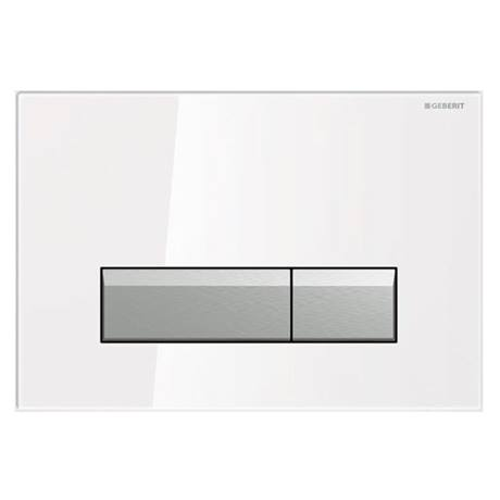 Geberit Sigma40 White Glass DuoFresh Odour Extraction Flush Plate - 115.600.SI.1