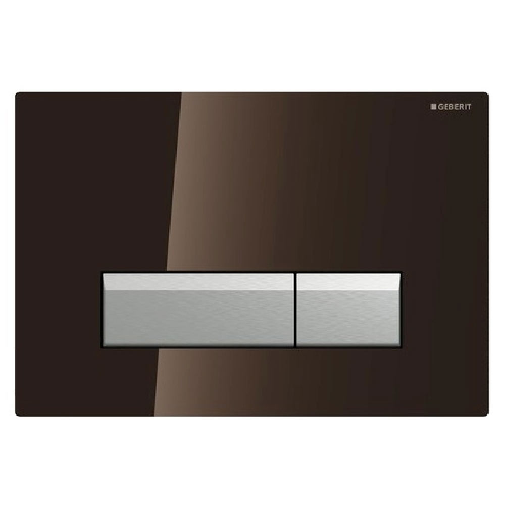 Geberit Sigma40 Umber Glass DuoFresh Odour Extraction Flush Plate - 115.600.SQ.1