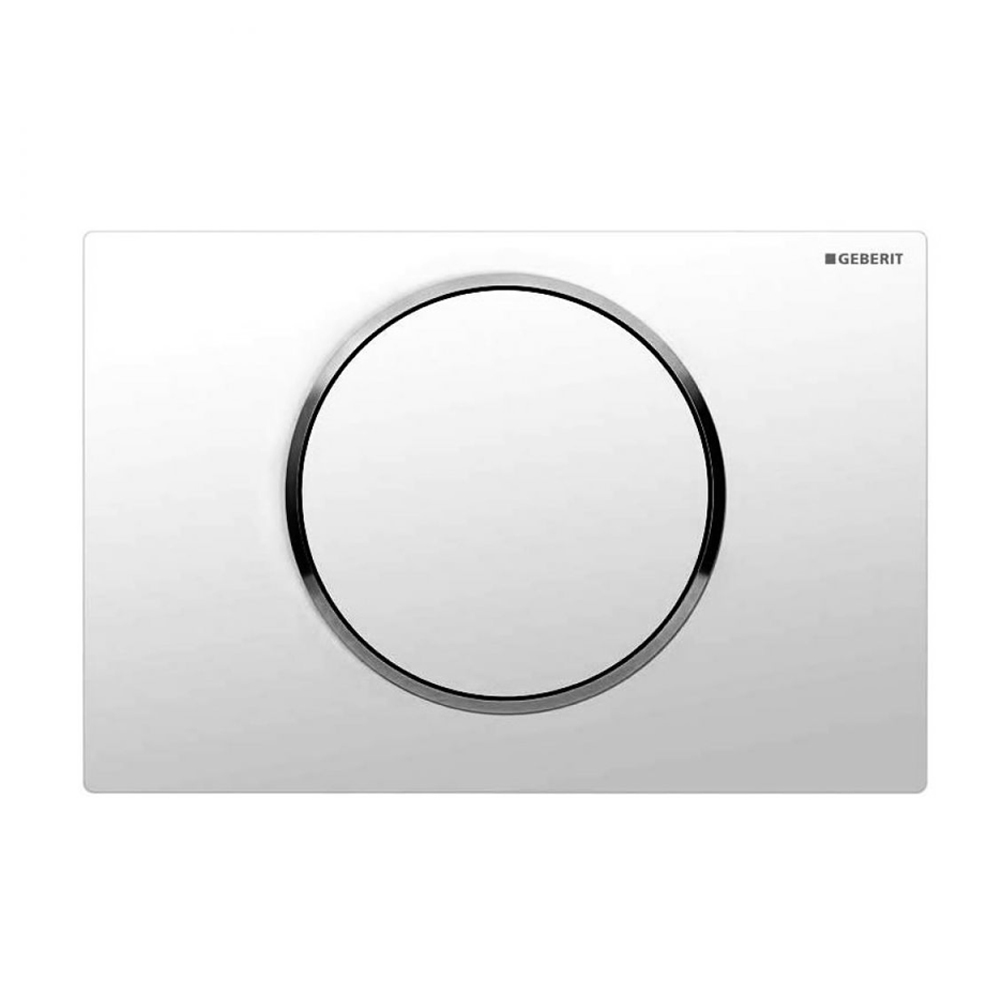 Geberit Sigma 10 White + Chrome Flush Plate for UP320/UP720 Cistern - 115.758.KJ.5