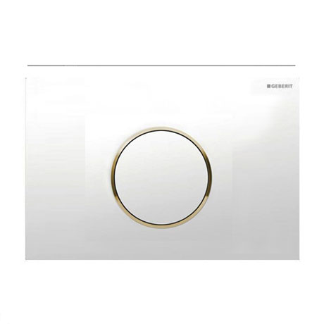 Geberit - Flush Plate for UP300 UP320 UP720 Cistern - Sigma10 - White/Gold