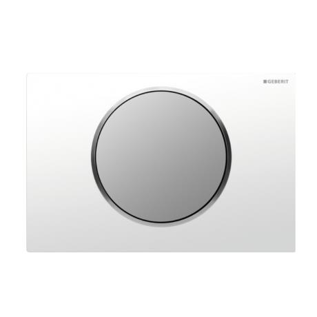Geberit White + Matt Chrome Sigma 10 Flush Plate for UP320/UP720 Cistern - 115.758.KL.5