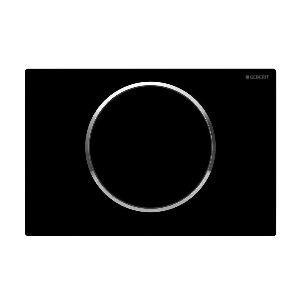Geberit Sigma 10 Black + Chrome Flush Plate for UP320/UP720 Cistern - 115.758.KM.5