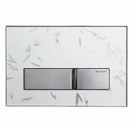 Geberit Sigma 50 Ornament White Flush Plate for UP320 Cistern - 115.788.SC.5