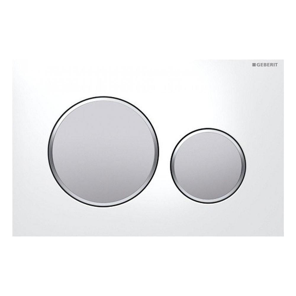 Geberit Sigma 20 White + Matt Chrome Flush Plate for UP320/UP720 Cistern - 115.882.KL.1