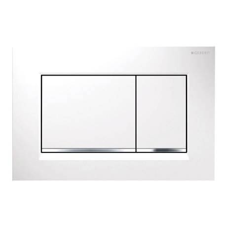 Geberit Sigma30 Dual Flush Plate - White/Gloss Chrome/White - 115.883.KJ.1