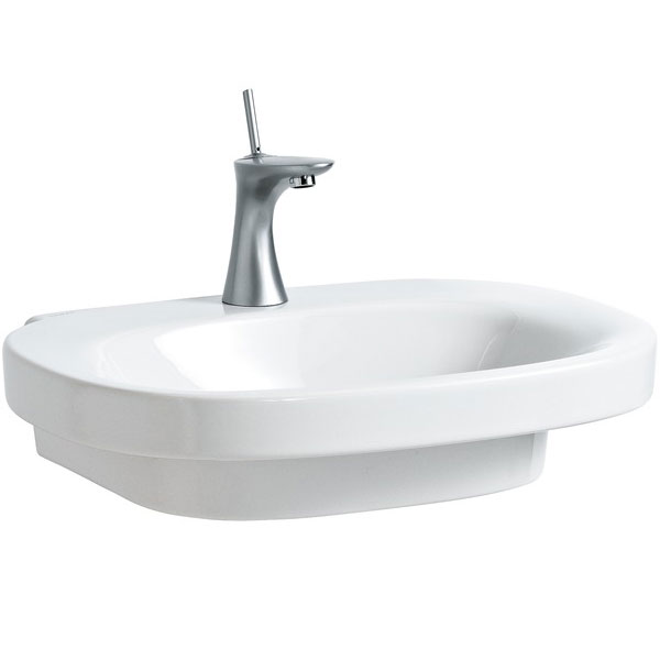 Laufen - Mimo 1 Tap Hole Basin with Concealed Overflow - 11553 Large Image