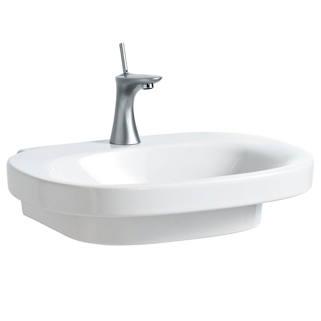 Laufen - Mimo 1 Tap Hole Basin with Concealed Overflow and Ground Base - 11557 profile large image view 1