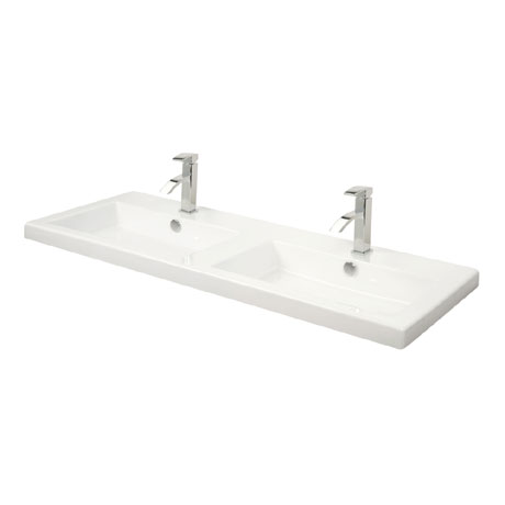 Miller - 1210mm Rectangular Bowl Double Ceramic Basin - 115W1