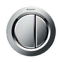 Geberit Dual Flush Pneumatic Flush Button - Gloss Chrome - 116.050.21.1 Medium Image